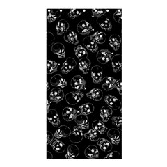 A Lot Of Skulls Black Shower Curtain 36  X 72  (stall)  by jumpercat