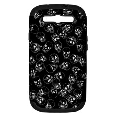 A Lot Of Skulls Black Samsung Galaxy S Iii Hardshell Case (pc+silicone) by jumpercat