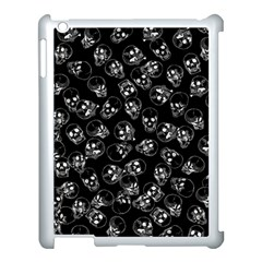 A Lot Of Skulls Black Apple Ipad 3/4 Case (white) by jumpercat