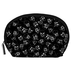 A Lot Of Skulls Black Accessory Pouches (large)  by jumpercat