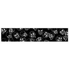 A Lot Of Skulls Black Small Flano Scarf