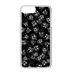 A Lot Of Skulls Black Apple Iphone 7 Plus Seamless Case (white) by jumpercat