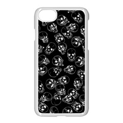 A Lot Of Skulls Black Apple Iphone 7 Seamless Case (white)