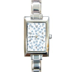 A Lot Of Skulls Blue Rectangle Italian Charm Watch by jumpercat