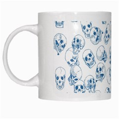 A Lot Of Skulls Blue White Mugs by jumpercat