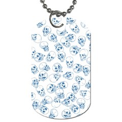A Lot Of Skulls Blue Dog Tag (one Side) by jumpercat