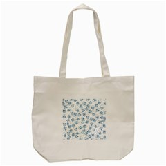 A Lot Of Skulls Blue Tote Bag (cream) by jumpercat