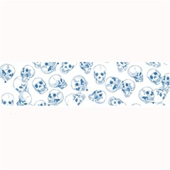 A Lot Of Skulls Blue Large Bar Mats by jumpercat