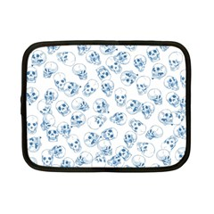 A Lot Of Skulls Blue Netbook Case (small)  by jumpercat