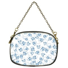 A Lot Of Skulls Blue Chain Purses (two Sides)  by jumpercat