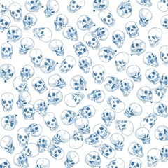 A Lot Of Skulls Blue Magic Photo Cubes by jumpercat
