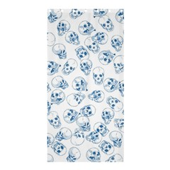 A Lot Of Skulls Blue Shower Curtain 36  X 72  (stall)  by jumpercat