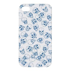 A Lot Of Skulls Blue Apple Iphone 4/4s Hardshell Case by jumpercat