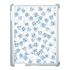 A Lot Of Skulls Blue Apple Ipad 3/4 Case (white)