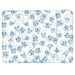 A Lot Of Skulls Blue Samsung Galaxy Tab 7  P1000 Flip Case by jumpercat