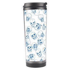 A Lot Of Skulls Blue Travel Tumbler by jumpercat