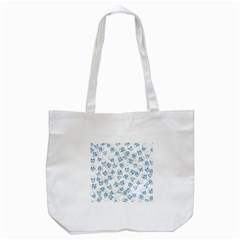 A Lot Of Skulls Blue Tote Bag (white) by jumpercat