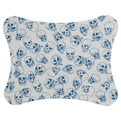 A Lot Of Skulls Blue Jigsaw Puzzle Photo Stand (bow) by jumpercat