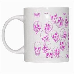 A Lot Of Skulls Pink White Mugs by jumpercat