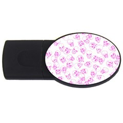A Lot Of Skulls Pink Usb Flash Drive Oval (4 Gb) by jumpercat