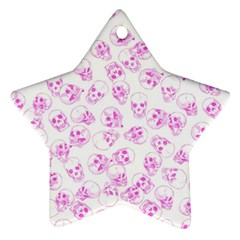 A Lot Of Skulls Pink Star Ornament (two Sides) by jumpercat