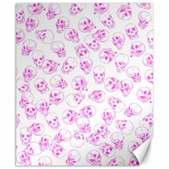 A Lot Of Skulls Pink Canvas 8  X 10  by jumpercat