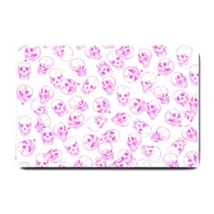A Lot Of Skulls Pink Small Doormat  by jumpercat