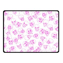 A Lot Of Skulls Pink Fleece Blanket (small)