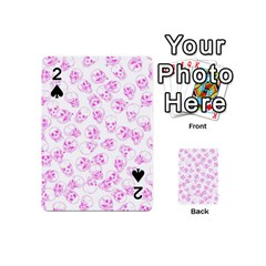 A Lot Of Skulls Pink Playing Cards 54 (mini)  by jumpercat