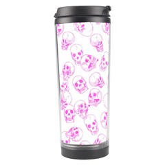 A Lot Of Skulls Pink Travel Tumbler by jumpercat