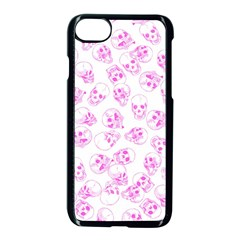 A Lot Of Skulls Pink Apple Iphone 8 Seamless Case (black) by jumpercat