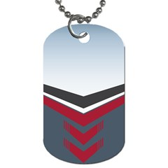Modern Shapes Dog Tag (one Side) by jumpercat