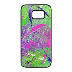 Ink Splash 03 Samsung Galaxy S7 Edge Black Seamless Case