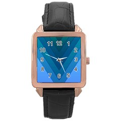 Tri 04 Rose Gold Leather Watch  by jumpercat