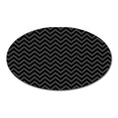 Dark Chevron Oval Magnet by jumpercat