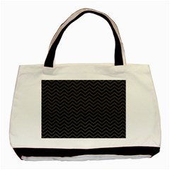 Dark Chevron Basic Tote Bag by jumpercat