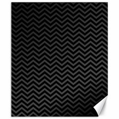 Dark Chevron Canvas 8  X 10  by jumpercat