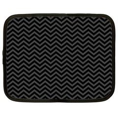 Dark Chevron Netbook Case (xxl)  by jumpercat