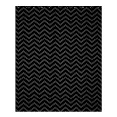 Dark Chevron Shower Curtain 60  X 72  (medium)  by jumpercat