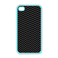 Dark Chevron Apple Iphone 4 Case (color) by jumpercat