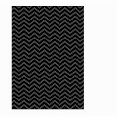Dark Chevron Large Garden Flag (two Sides) by jumpercat