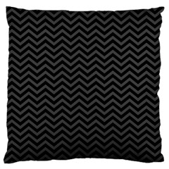Dark Chevron Large Cushion Case (one Side) by jumpercat