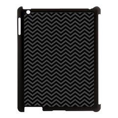 Dark Chevron Apple Ipad 3/4 Case (black) by jumpercat