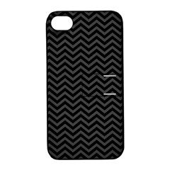 Dark Chevron Apple Iphone 4/4s Hardshell Case With Stand by jumpercat