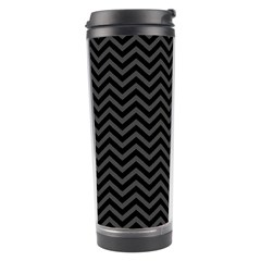 Dark Chevron Travel Tumbler