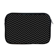 Dark Chevron Apple Macbook Pro 17  Zipper Case by jumpercat