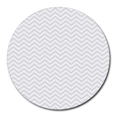 Light Chevron Round Mousepads by jumpercat