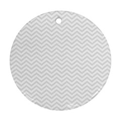 Light Chevron Ornament (round) by jumpercat