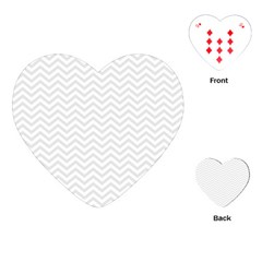 Light Chevron Playing Cards (heart)  by jumpercat
