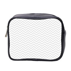 Light Chevron Mini Toiletries Bag 2 Side by jumpercat